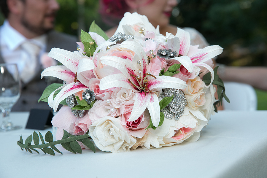 Paper Flower Boutonnieres, Corsages & Arrangements for Wedding, Prom & More